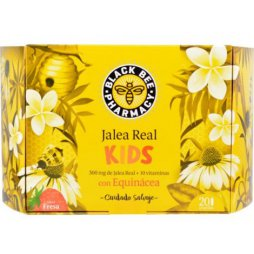 Jalea Real Black Bee Kids Sabor Fresa 20 Ampollas